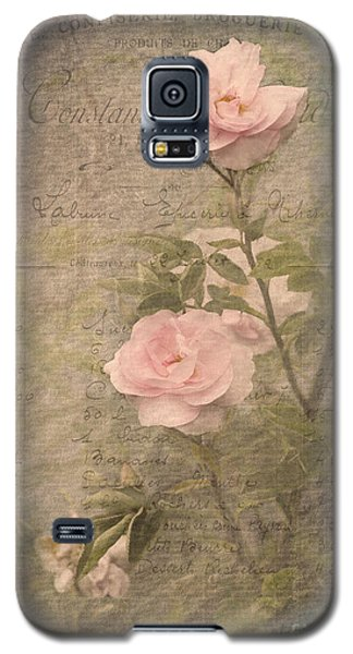 Vintage Rose Poster Galaxy S5 Case