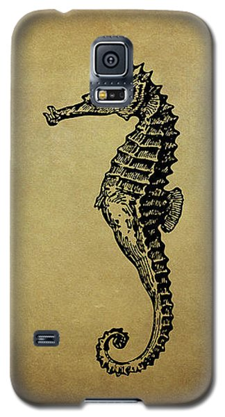 Vintage Seahorse Illustration Galaxy S5 Case by Peggy Collins