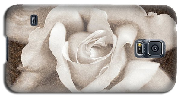 Galaxy S5 Case featuring the photograph Vintage Sepia Rose Flower by Jennie Marie Schell