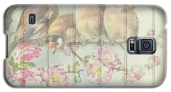 Vintage Shabby Chic Floral Faded Birds Design Galaxy S5 Case