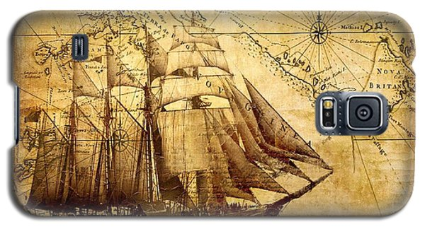 Vintage Ship Map Galaxy S5 Case