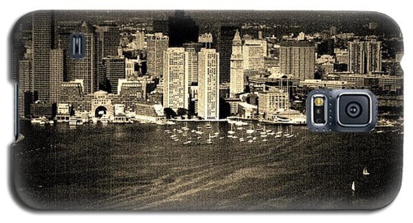Vintage Style Boston Skyline Galaxy S5 Case by Marjorie Imbeau