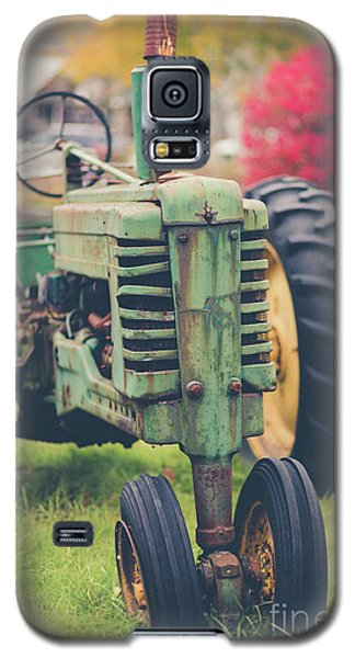 Galaxy S5 Case featuring the photograph Vintage Tractor Autumn by Edward Fielding