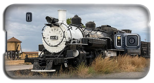 Galaxy S5 Case featuring the photograph Vintage Train At A Scenic Railroad Station In Antonito In Colorado by Carol M Highsmith