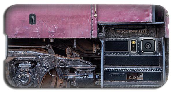 Galaxy S5 Case featuring the photograph Vintage Train Car Steps by Terry DeLuco