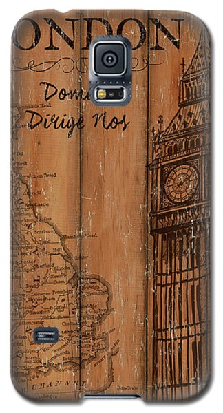 Galaxy S5 Case featuring the painting Vintage Travel London by Debbie DeWitt
