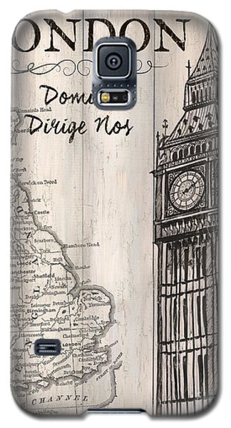 Vintage Travel Poster London Galaxy S5 Case by Debbie DeWitt