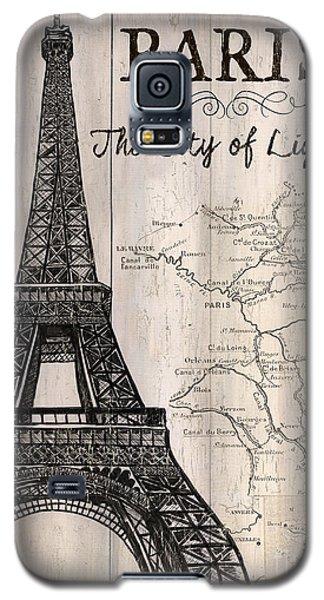 Vintage Travel Poster Paris Galaxy S5 Case by Debbie DeWitt