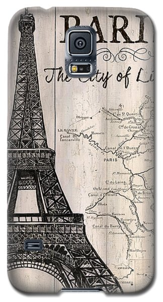 Vintage Travel Poster Paris Galaxy S5 Case