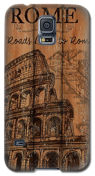 Galaxy S5 Case featuring the painting Vintage Travel Rome by Debbie DeWitt