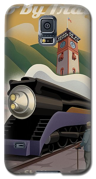 Train Galaxy S5 Case - Vintage Union Station Train Poster by Mitch Frey