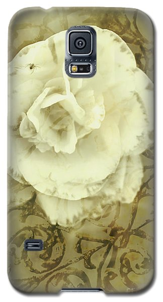 Spider Galaxy S5 Case - Vintage White Flower Art by Jorgo Photography - Wall Art Gallery