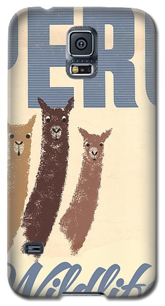 Vintage Wild Life Travel Llamas Galaxy S5 Case