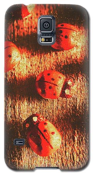 Ladybug Galaxy S5 Case - Vintage Wooden Ladybugs by Jorgo Photography - Wall Art Gallery