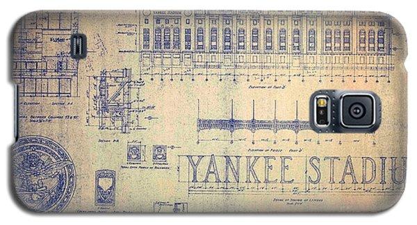 Vintage Yankee Stadium Blueprint Signed By Joe Dimaggio Galaxy S5 Case