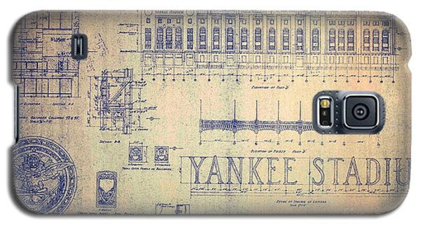 Vintage Yankee Stadium Blueprint Signed By Joe Di Maggio Galaxy S5 Case by Peter Gumaer Ogden Collection