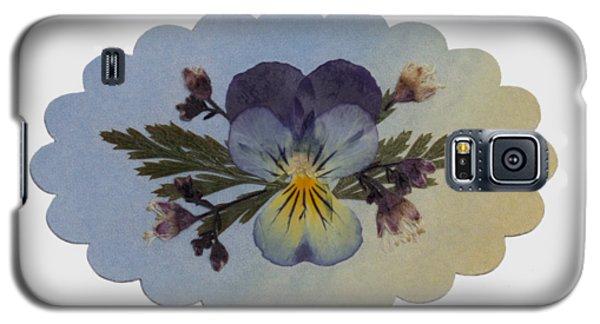 Viola Pressed Flower Arrangement Galaxy S5 Case