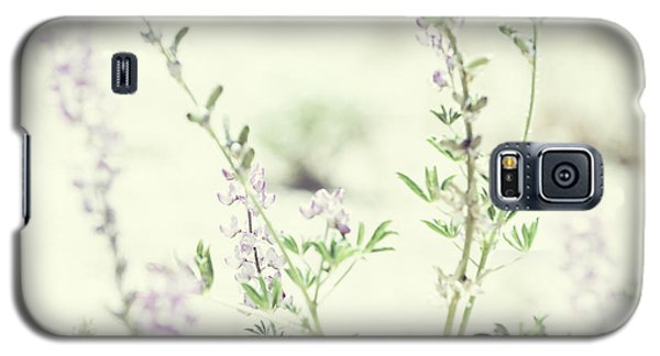 Violet And Green Bloom Galaxy S5 Case