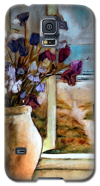 Violet Beach Flowers Galaxy S5 Case