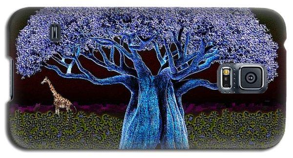 Violet Blue Baobab Galaxy S5 Case by Iowan Stone-Flowers