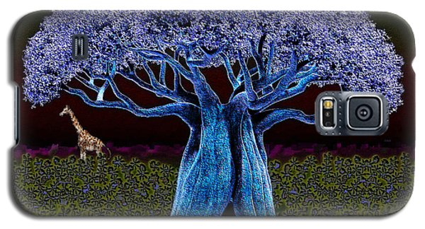 Violet Blue Baobab Galaxy S5 Case by Iowan Stone-Flowers