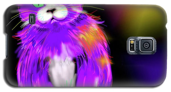 Violet Dizzycat Galaxy S5 Case
