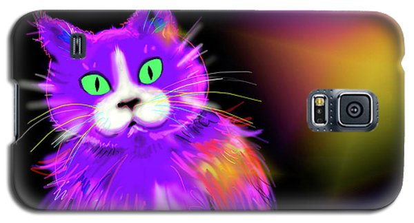 Violet Dizzycat Galaxy S5 Case