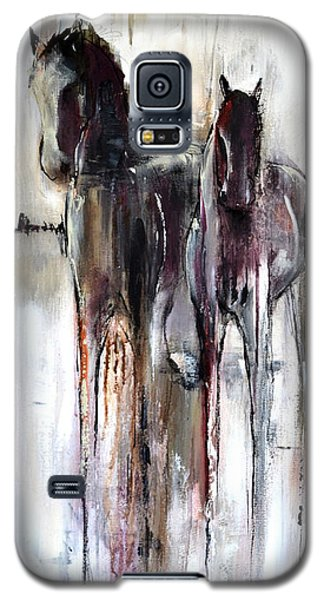 Galaxy S5 Case featuring the painting Violet Mirage by Cher Devereaux
