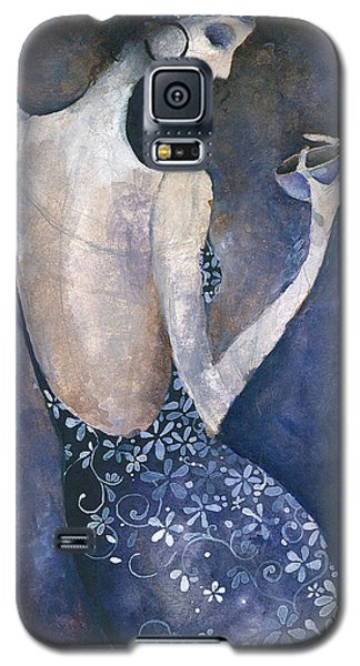 Galaxy S5 Case featuring the painting Violet Inspiration by Maya Manolova