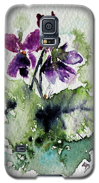 Galaxy S5 Case featuring the painting Violet Iv by Kovacs Anna Brigitta