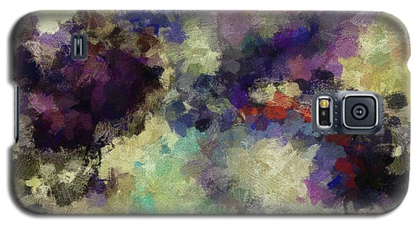 Galaxy S5 Case featuring the painting Violet Landscape Painting by Ayse Deniz