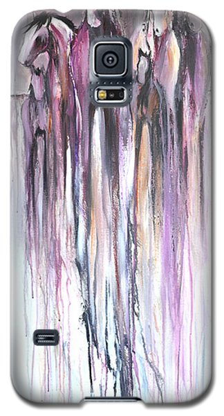 Galaxy S5 Case featuring the painting Violet Mirage 2 by Cher Devereaux
