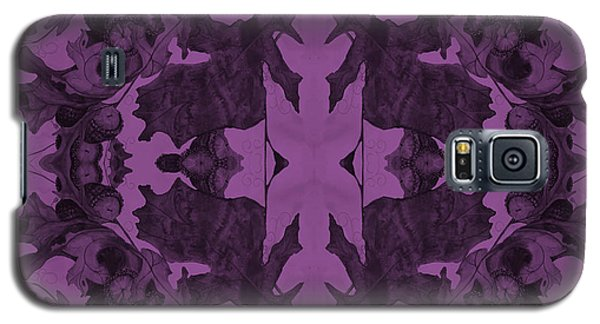 Violet Oak Tree Pattern Galaxy S5 Case