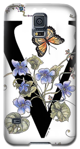 Violets And A Viceroy Butterfly Galaxy S5 Case