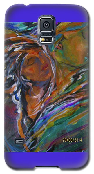 Violets And Ordchid Galaxy S5 Case by Dawn Fisher