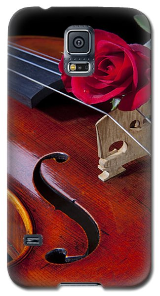 Violin And Red Rose Galaxy S5 Case