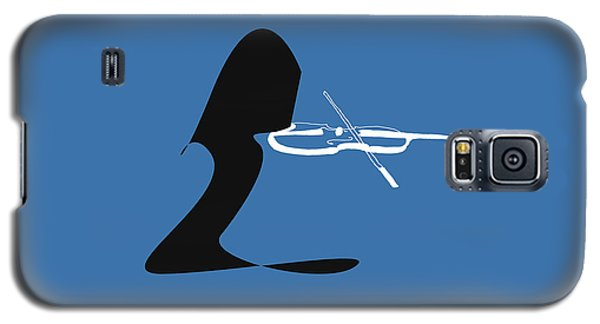 Galaxy S5 Case featuring the digital art Violin In Blue by Jazz DaBri