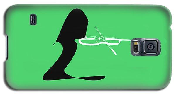 Galaxy S5 Case featuring the digital art Violin In Green by Jazz DaBri