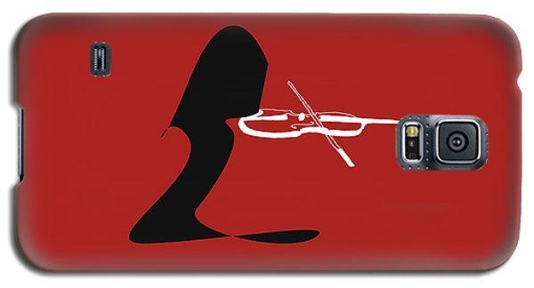 Galaxy S5 Case featuring the digital art Violin In Orange Red by Jazz DaBri