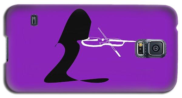 Galaxy S5 Case featuring the digital art Violin In Purple by Jazz DaBri