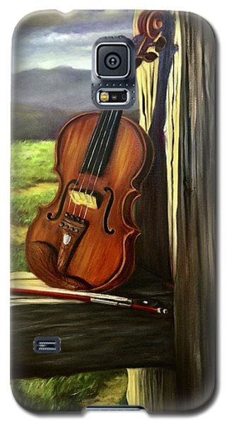 Galaxy S5 Case featuring the painting Violin by Randol Burns