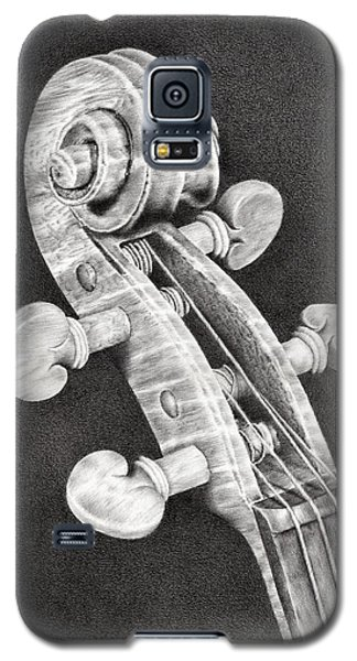 Violin Galaxy S5 Case - Violin Scroll by Remrov