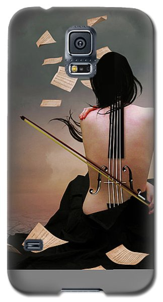 Violin Woman Galaxy S5 Case