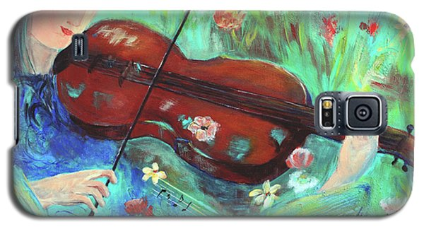 Violinist In Garden Galaxy S5 Case