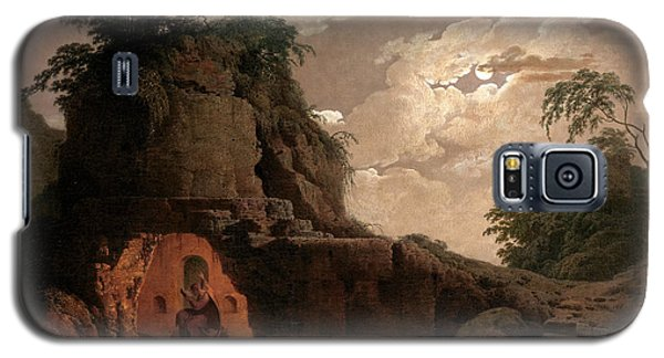 Galaxy S5 Case featuring the painting Virgil's Tomb By Moonlight With Silius Italicus Declaiming by Joseph Wright of Derby