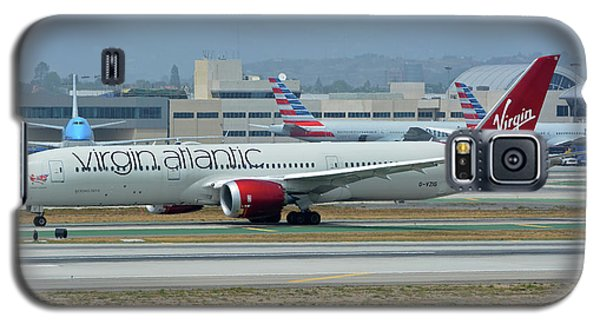 Galaxy S5 Case featuring the photograph Virgin Atlantic Boeing 787-9 G-vzig Los Angeles International Airport May 3 2016 by Brian Lockett