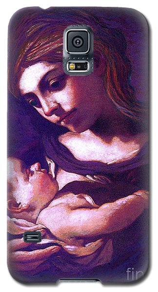 Galaxy S5 Case featuring the painting Virgin Mary And Baby Jesus, The Greatest Gift by Jane Small