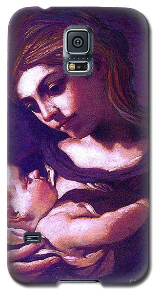Virgin Mary And Baby Jesus, The Greatest Gift Galaxy S5 Case by Jane Small