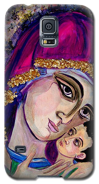 Virgin Mary In Purple Galaxy S5 Case