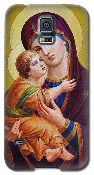 Galaxy S5 Case featuring the painting Virgin Of Silver Spring - Theotokos by Svitozar Nenyuk